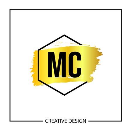 Initial MC Letter Logo Template Design Logó