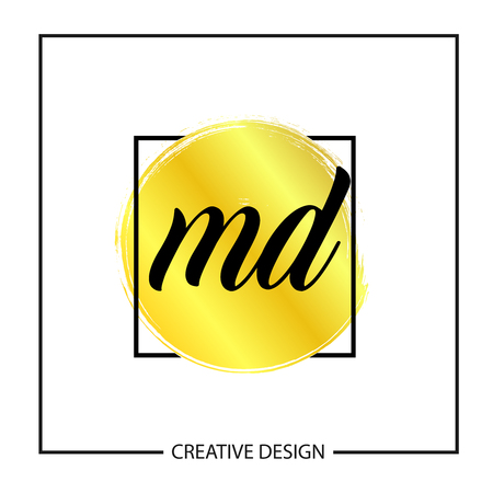 Initial MD Letter Logo Template Design