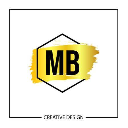 Initial MB Letter Logo Template Design