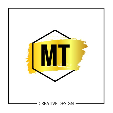 Initial MT Letter Logo Template Design