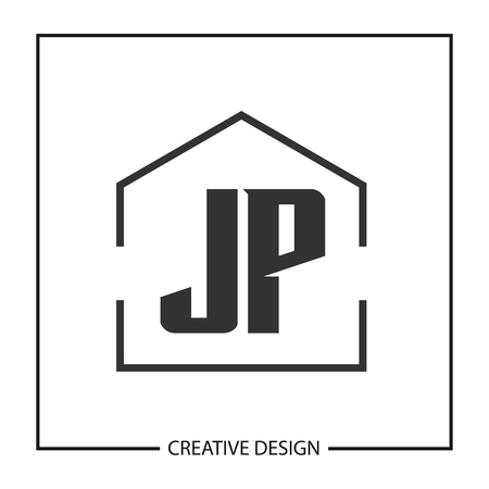 Initial Letter JP Logo Template Design Illustration