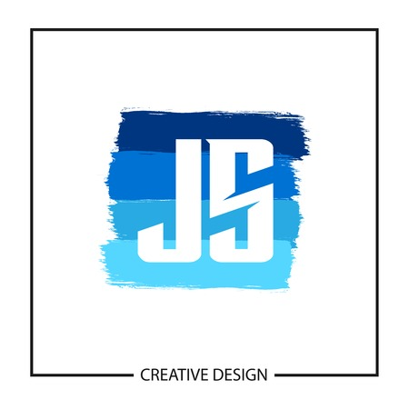 Initial Letter JS Logo Template Design Banco de Imagens - 112644897