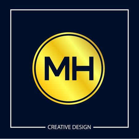 Initial MH Letter Logo Template Design