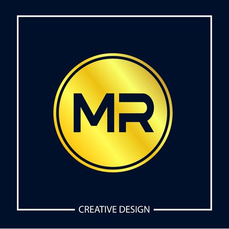 Initial MR Letter Logo Template Design