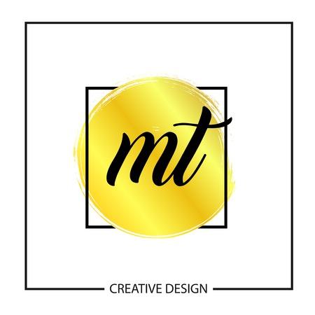 Initial MT Letter Logo Template Design