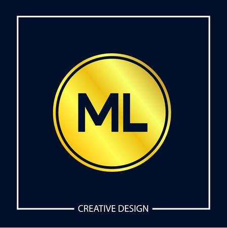 Initial ML Letter Logo Template Design