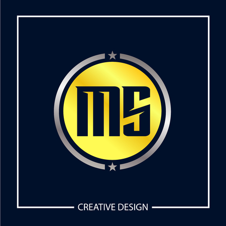 Initial MS Letter Logo Template Design