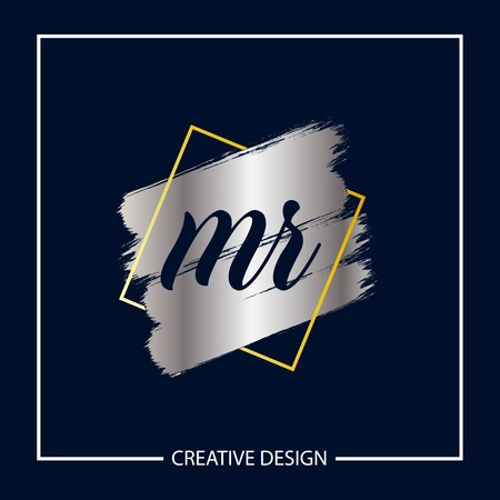 Initial MR Letter Logo Template Design Logó