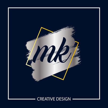 Initial MK Letter Logo Template Design