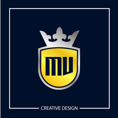 Initial MV Letter Logo Template Design Logó