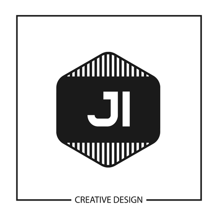 Initial Letter JI Logo Template Design Stok Fotoğraf - 112507764