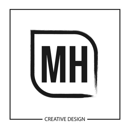Initial Letter MH Logo Template Design Logó