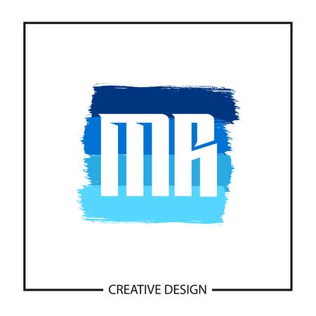 Initial Letter MR Logo Template Design Logó