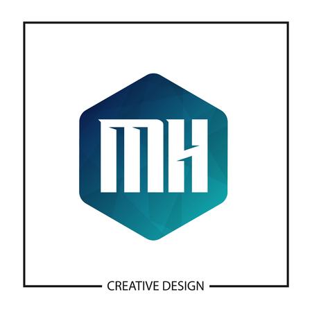 Initial Letter MH Logo Template Design Illustration
