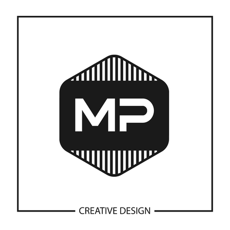 Initial Letter MP Logo Template Design  イラスト・ベクター素材