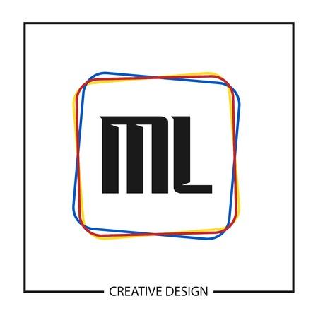 Initial Letter ML Logo Template Design