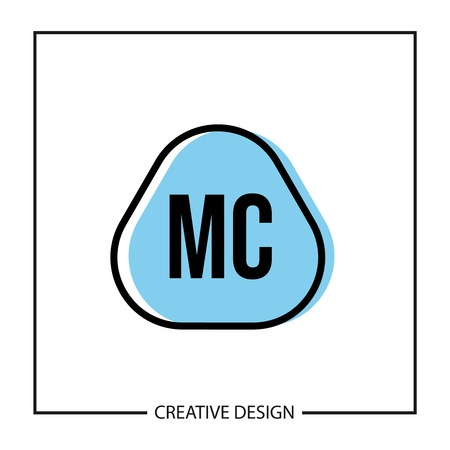Initial Letter MC Logo Template Design 向量圖像