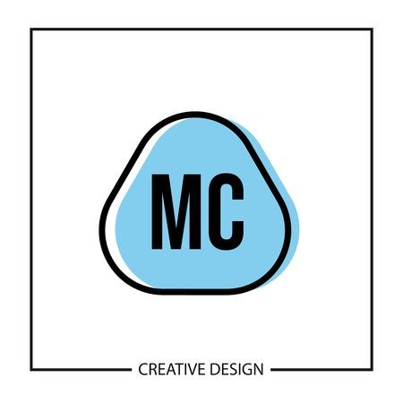 Initial Letter MC Logo Template Design Illustration