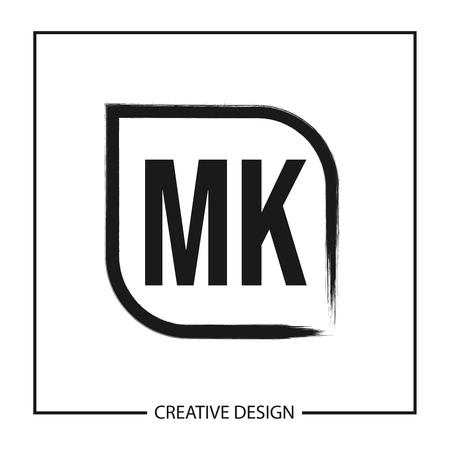 Initial Letter MK Logo Template Design
