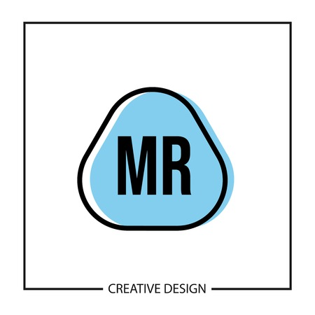 Initial Letter MR Logo Template Design