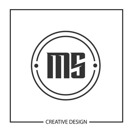 Initial Letter MS Logo Template Design Illustration