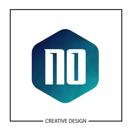 Initial NO Letter Logo Template Design