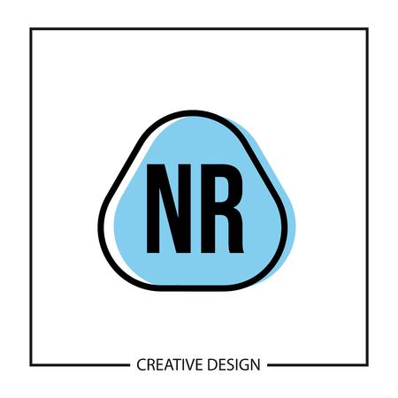 Initial NR Letter Logo Template Design Logo