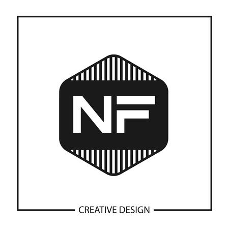 Initial NF Letter Logo Template Design Illustration