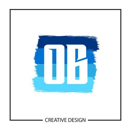 Initial OB Letter Logo Template Design Çizim