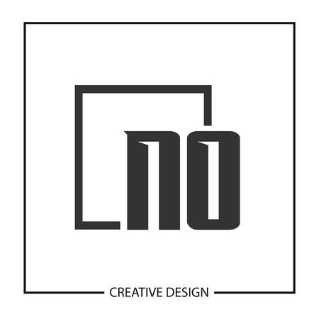 Initial NO Letter Logo Template Design