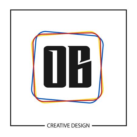 Initial OB Letter Logo Template Design Ilustração