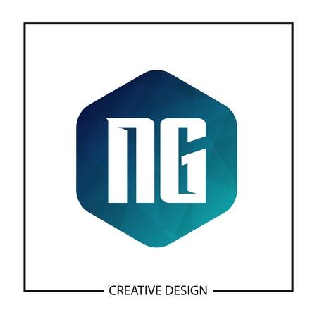 Initial NG Letter Logo Template Design Illusztráció