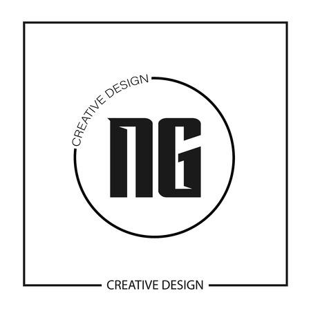 Initial NG Letter Logo Template Design Logó