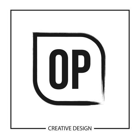 Initial OP Letter Logo Template Design Ilustração