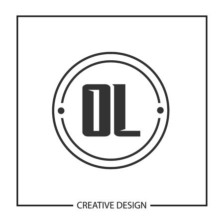 Initial OL Letter Logo Template Design Ilustração
