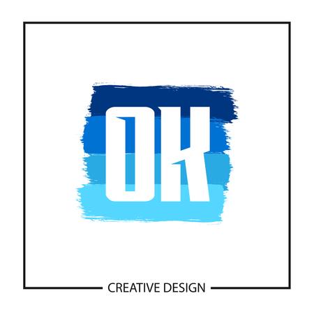 Initial OK Letter Logo Template Design Ilustração