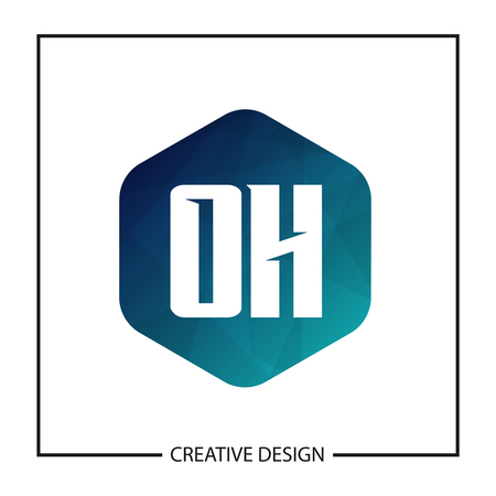 Initial OH Letter Logo Template Design Illustration