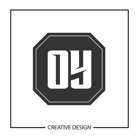 Initial OY Letter Logo Template Design Illustration
