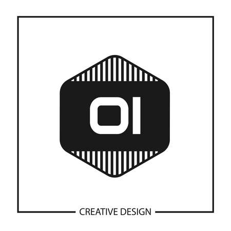 Initial OI Letter Logo Template Design