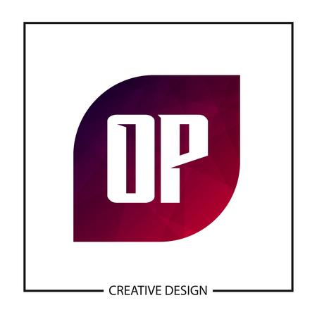 Initial OP Letter Logo Template Design Banco de Imagens - 112711019