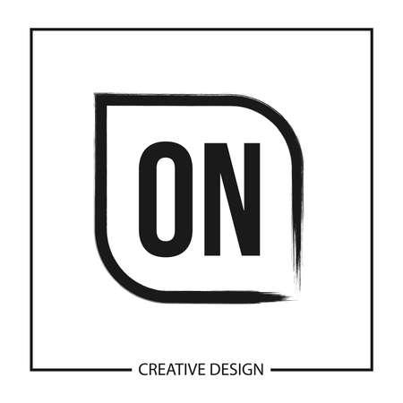 Initial ON Letter Logo Template Design