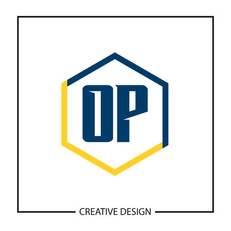 Initial OP Letter Logo Template Design Banco de Imagens - 112508363