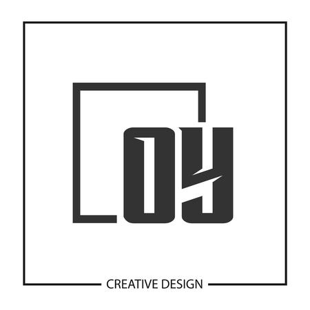 Initial OY Letter Logo Template Design Illustration