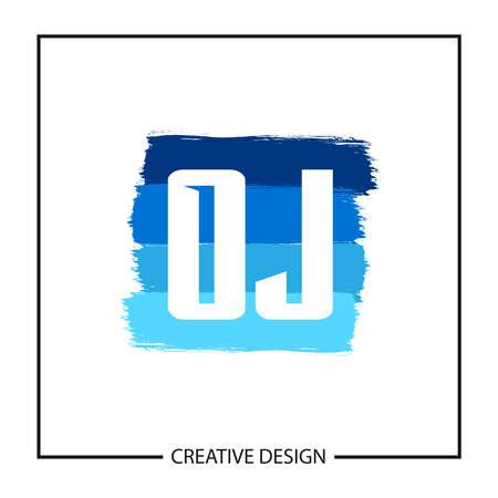 Initial OJ Letter Logo Template Design