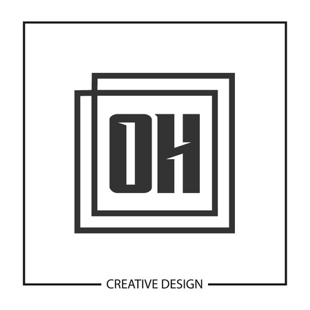 Initial OH Letter Logo Template Design Ilustracja