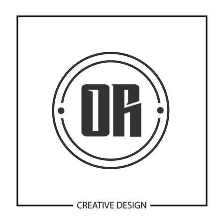 Initial OR Letter Logo Template Design Ilustração