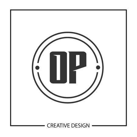 Initial OP Letter Logo Template Design Banco de Imagens - 112434290