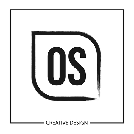 Initial OS Letter Logo Template Design