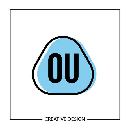 Initial OU Letter Logo Template Design