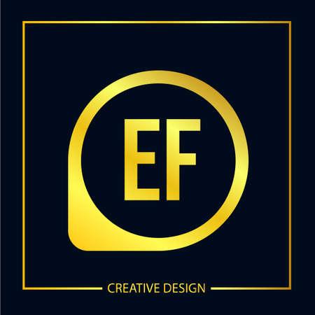 Initial EF Letter Logo Template Design Illustration